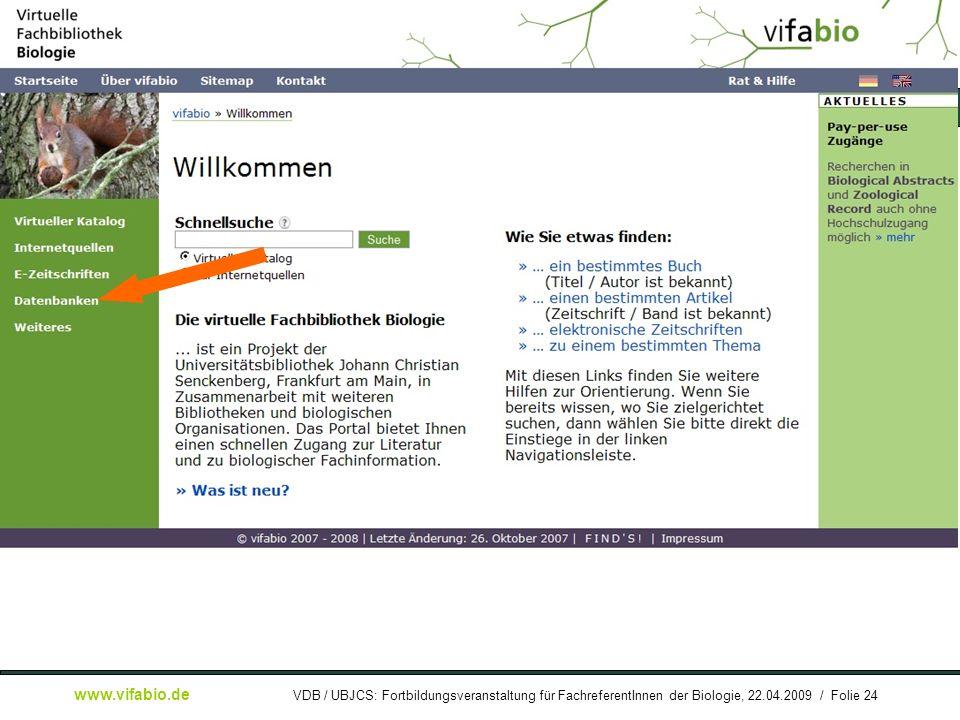 [ Bildschirmfoto: ] Startseite: DB-Link